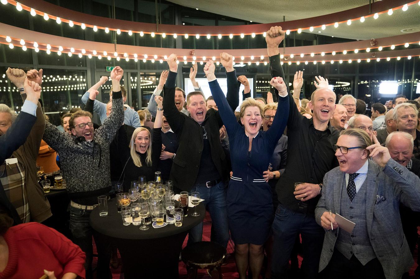 BALANS viert de overwinning tijdens afgelopen gemeenteraadsverkiezingen.