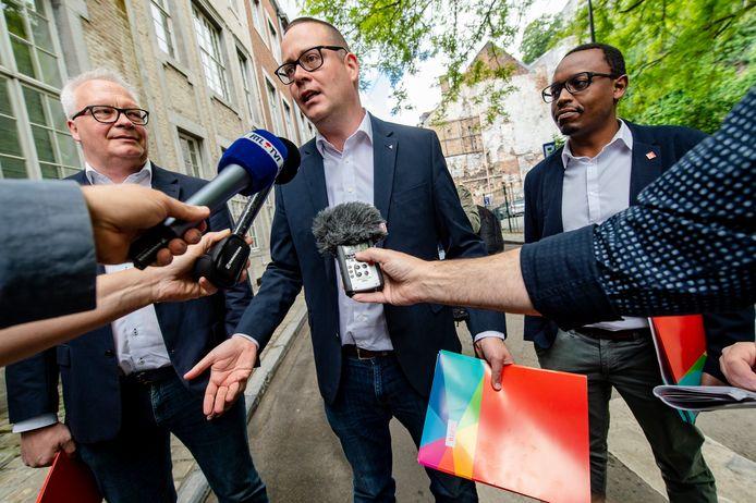 Peter Mertens, Raoul Hedebouw et Germain Mugemangango
