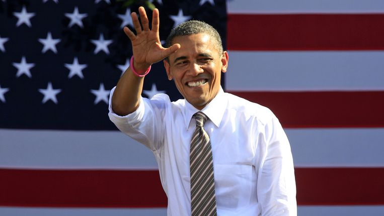 Barack Obama verlengt zijn ambtstermijn als Amerikaans staatshoofd. Beeld AP
