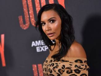 'Glee'-collega's eren Naya Rivera tijdens de GLAAD Awards