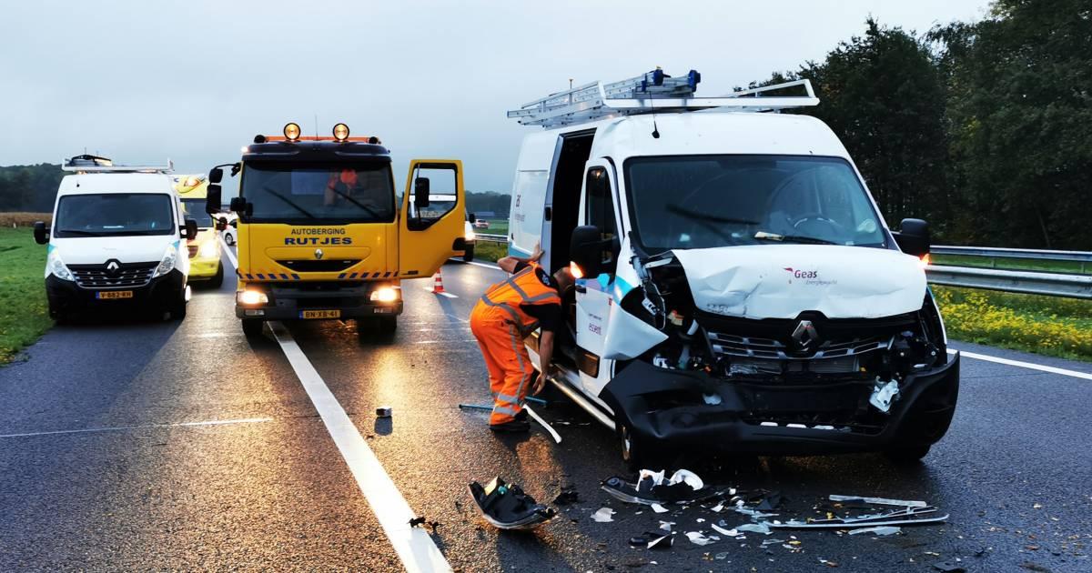 Twee ongevallen kort na elkaar op A18.