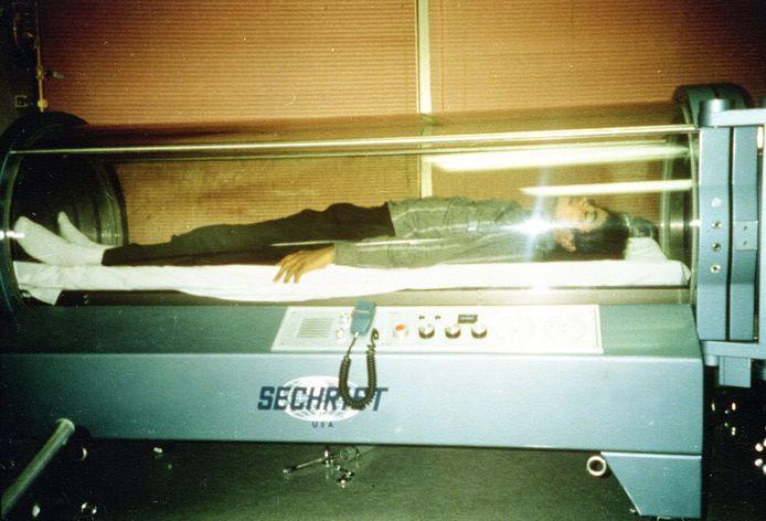 Michael Jackson in zuurstoftank