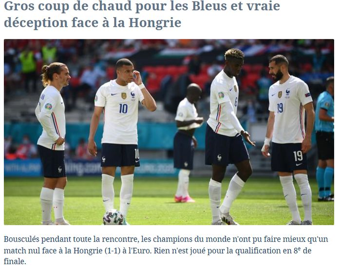 Le Figaro over de Franse nationale ploeg.