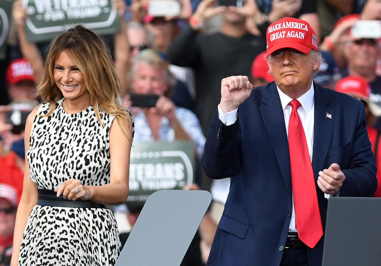 Melania en Donald Trump Beeld NurPhoto via Getty Images