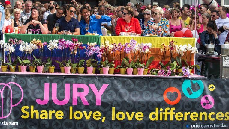 Het thema van de Canal Parade was dit jaar Share. Beeld anp