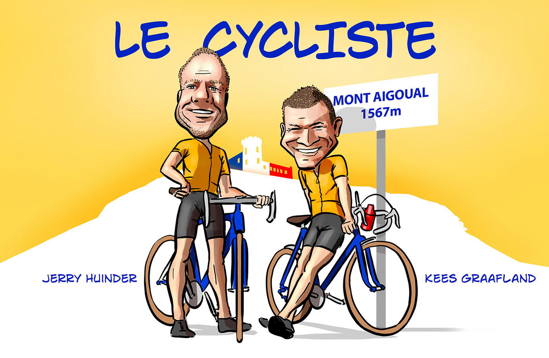 Jerry Huinder en Kees Graafland maken de nieuwe AD-podcast Le Cycliste op en rond de Mont Aigoual.