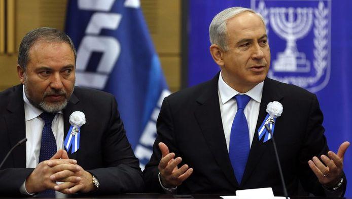 Lieberman met premier Netanyahu.
