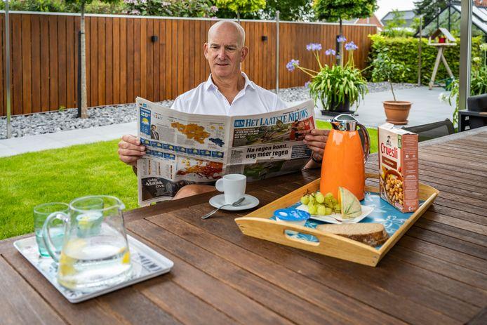 Benjamin Cammerman  aan de ontbijttafel in Appels