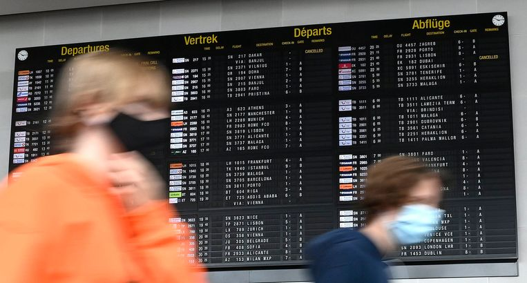 Brussels Airport infobord