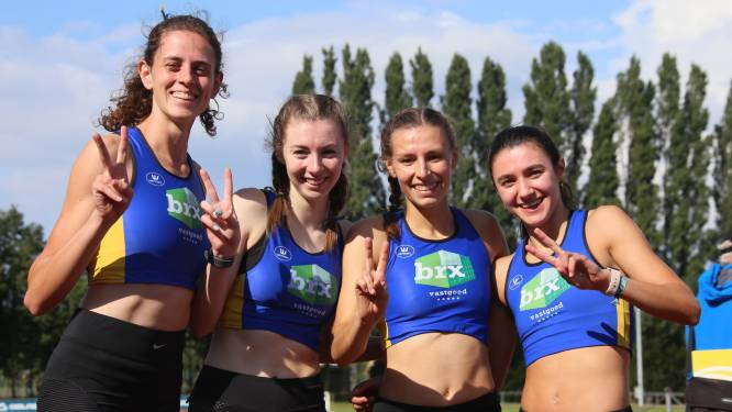 """Vrouwenploeg Av Looise triomfeert op PK estafette op de 4x400m: """"Op het BK mikken we op goud"""""""
