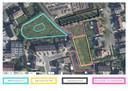 De locatie van de BMX-piste en de fietstrial in Egem.