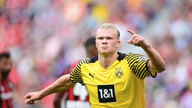Witsel en Meunier kloppen met Dortmund Leverkusen na knotsgekke wedstrijd, Haaland weer twee keer aan het kanon
