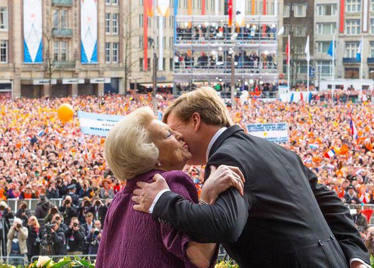 De inhuldiging van koning Willem-Alexander in 2013 Beeld EPA