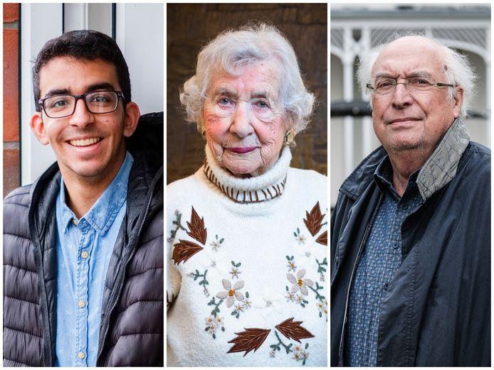 Nassreddin Taibi (18), Selma van de Perre (98) en Ad van Liempt (71).
