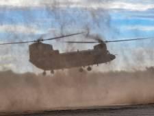 Helikopters vliegbasis Gilze-Rijen naar Portugal voor internationale oefening met commando's