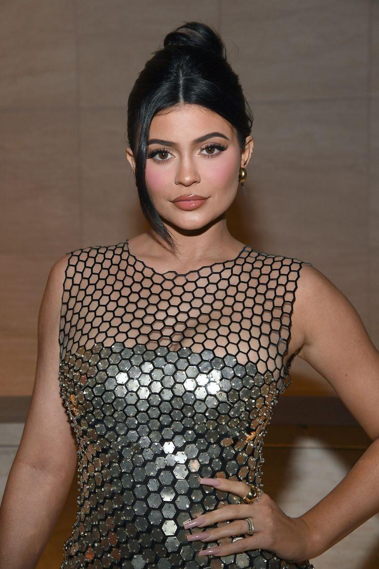 Kylie Jenner bij een modeshow  van modeontwerpen en filmregisseur Tom Ford in Hollywood.  Beeld Getty Images