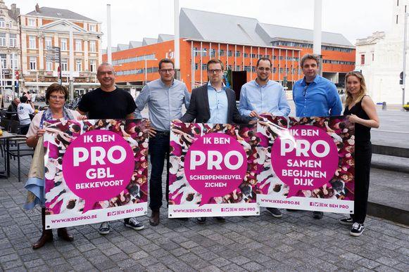 De nieuwe vertegenwoordigers van PRO.