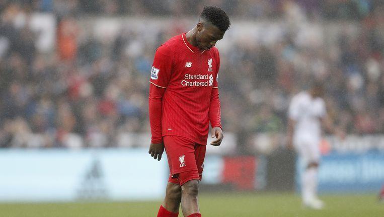 Teleurstelling bij Liverpool na de nederlaag tegen Swansea City. Beeld reuters