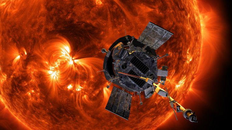 Een zonnestorm zorgt voor veel schade aan satellieten en telecommunicatie. Beeld EPA