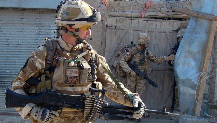Britse soldaten op patrouille in de Afghaanse provincie Helmand.
