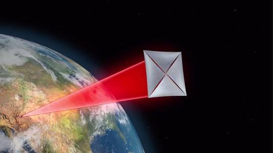 Dankzij een laserstraal zou een flinterdunne sonde to 20 procent van de lichtsnelheid kunnen halen.