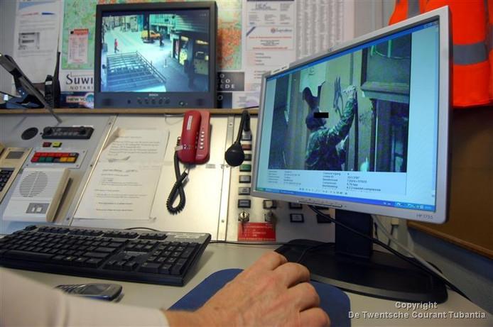Tot nu toe werd alleen gebruik gemaakt van vaste camera's in de binnenstad van Enschede.