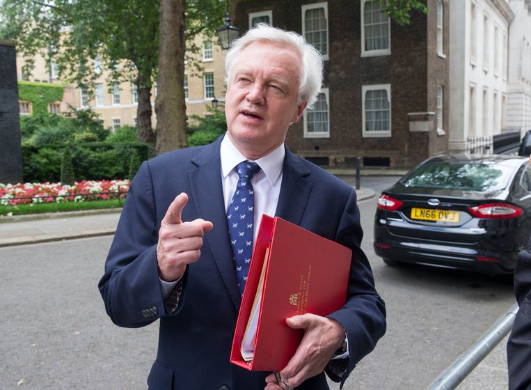 Ex-brexitminister David Davis. Beeld Photo News