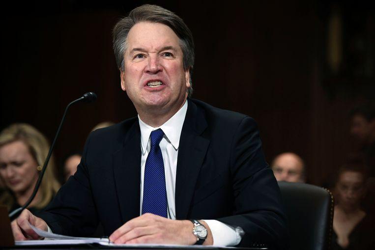 Brett Kavanaugh, tijdens zijn boze getuigenis voor de Senaatscommissie voor Justitie vorige week.