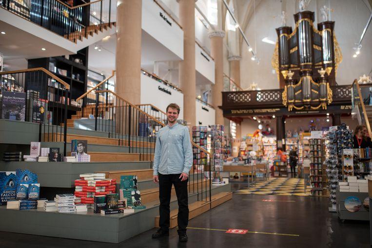 Erik Vrieling  van Waanders in de Broeren in Zwolle.  Beeld Sabine van Wechem
