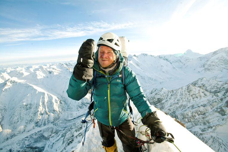 Tomasz Mackiewicz tijdens een expeditie op de Nanga Parbat in 2014.