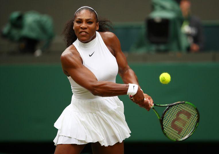 Serena Williams in de derde ronde. Beeld getty