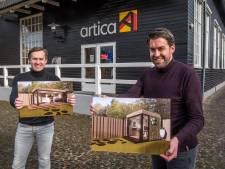 Geen thuiswerkruimte? Het Ootmarsumse bedrijf Artica plaatst kantoorunits in tuin
