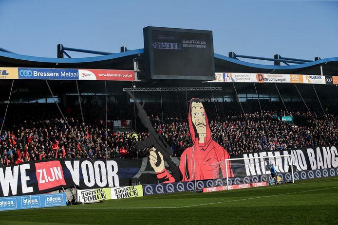 'En we zijn voor niemand bang', is de laatste jaren de lijfspreuk van Willem II-supporters.