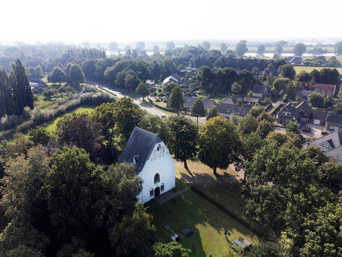 Deze Oude kerk Overasselt is onderdeel van de wandelroute Heerlijkheid.
