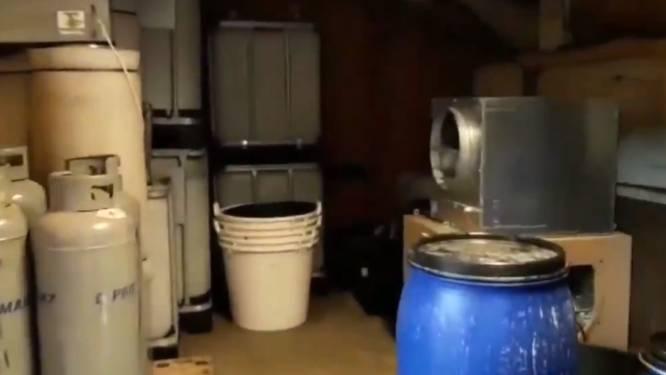 Twee mannen uit België opgepakt na politie-inval in groot Nederlands drugslab