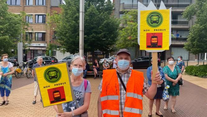 """Protestactie tegen nieuwe tram Neder-over-Heembeek: """"Lijkt wel spelletje om inwoners te dwarsbomen"""""""