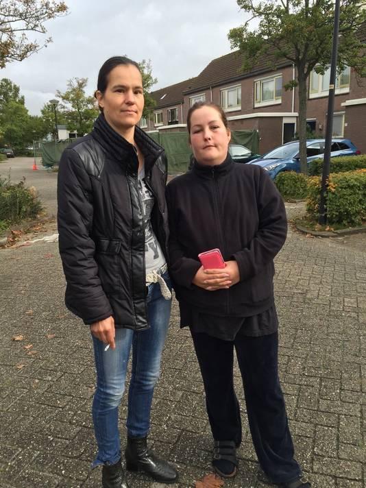 Eigenaresse van de woning Sandra Popma en vriendin Deborah van der Jagt troffen het eerste lijkje aan.