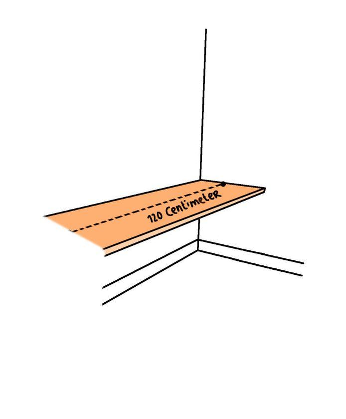 Denk groot: ga voor een minimale breedte van 120 cm.