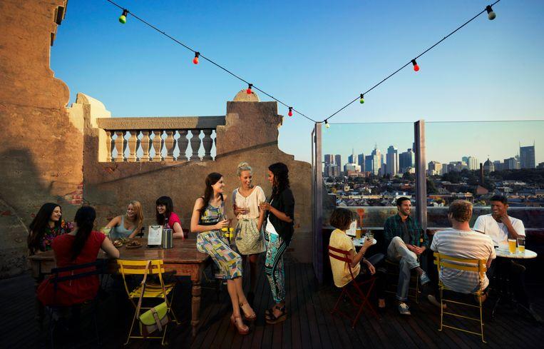 Drinken met een uitzicht om u tegen te zeggen in Melbourne.  Beeld Dieter Moeyaert