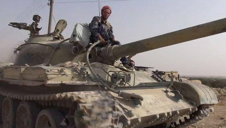 IS-strijders in al-Qaryatain, ten zuidwesten van Palmyra.