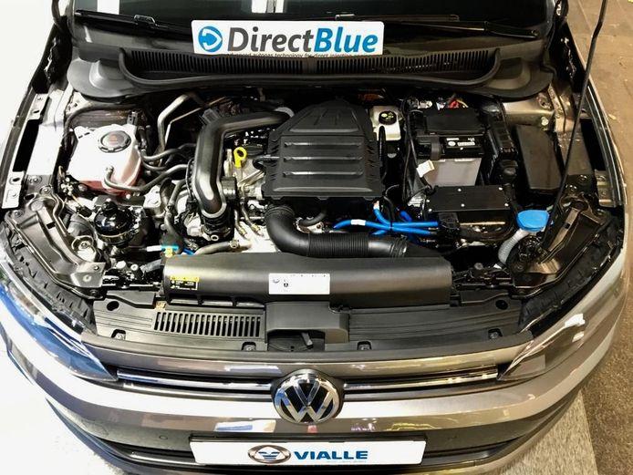 Vialle toont op de autoshow IAA in Frankfurt zijn lpg-systeem DirectBlue in een VW Polo.