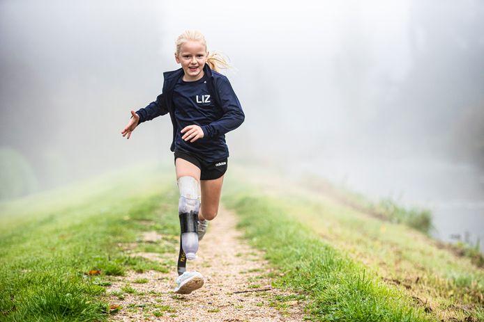 De achtjarige Lizzie van der Bas uit Boskoop.