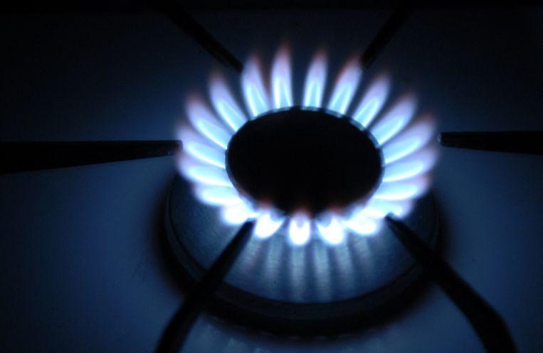 Een brandend gasfornuis. Beeld Hollandse Hoogte / AFP