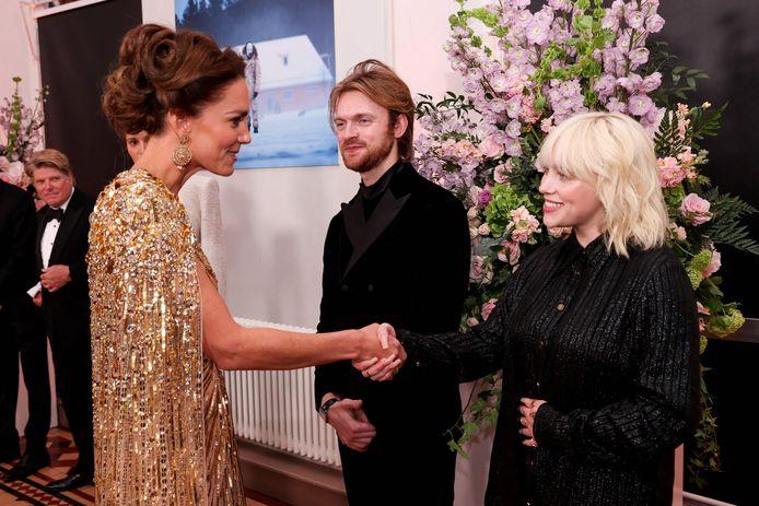 Kate met Billie Eilish en Finneas O'Connell.