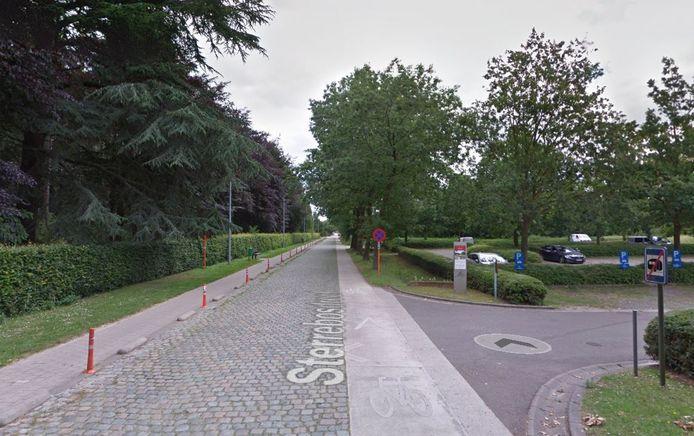 De parking in de Sterrebosdreef is het startpunt van de route.
