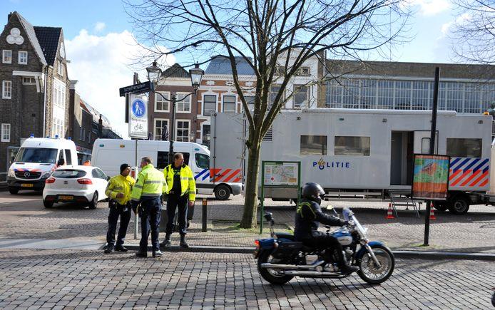 De politie maakte dinsdagmiddag op de Wijnstraat een reconstructie van een ongeval uit 2018.