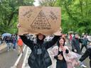 Foto van de 'European Freedom March' die Knapen zelf op Facebook postte