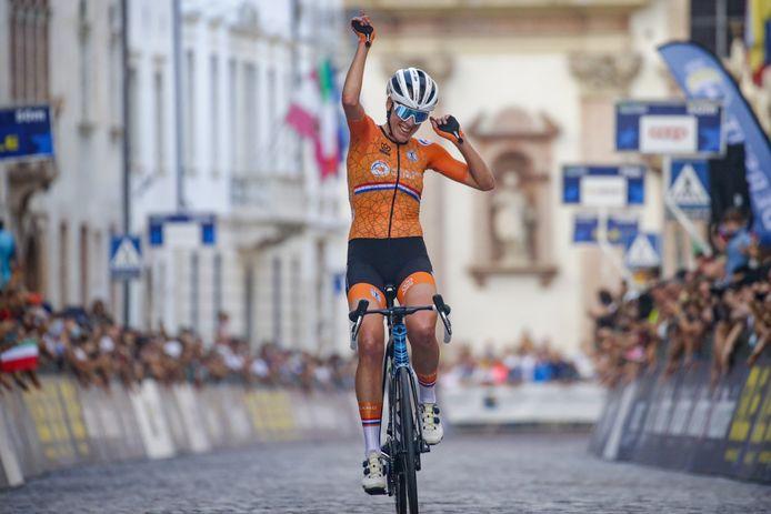 Ellen van Dijk is Europees kampioen.
