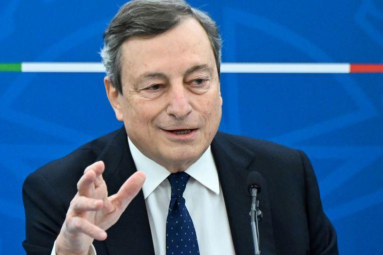 De Italiaanse premier Mario Draghi. Beeld REUTERS