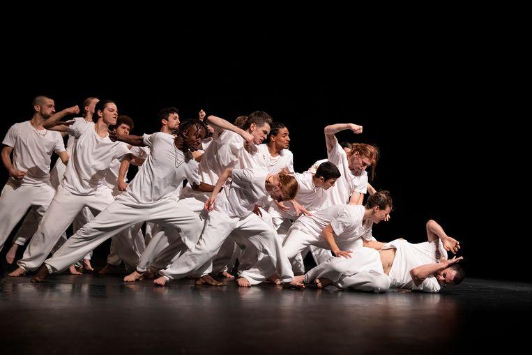De choreografie gaat over een boze man uit de arbeidersklasse.   Beeld Kitakyushu
